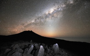 Milky Way, stars, landscape