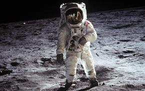 space, astronaut, parking lot, Apollo, Moon, NASA