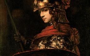 classic art, Rembrandt van Rijn, painting, Athena, Greek mythology