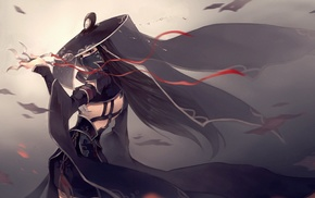 hat, original characters, anime girls, weapon, anime