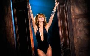 cleavage, brunette, model, Anastasia Scheglova, girl, one