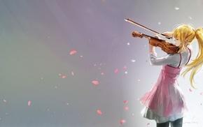 Miyazono Kaori, violin, anime, Shigatsu wa Kimi no Uso, anime girls
