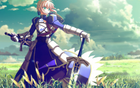 sword, Fate Series, anime girls, anime, Saber