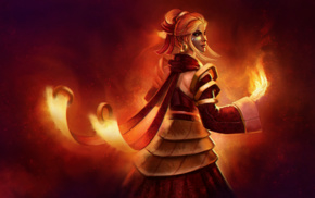 Online games, Valve, Dota 2, Lina, Valve Corporation, fantasy art