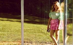 girl, celebrity, auburn hair, skirt, blonde, La Seydoux