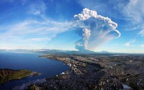 nature, Chile, Calbuco Volcano, landscape, volcano, cityscape