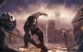 artwork, men, steampunk, warrior, fantasy art