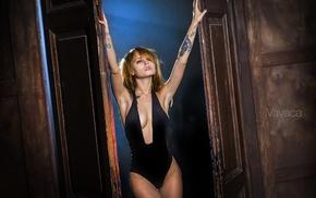 one, piece swimsuit, cleavage, Vavaca, tattoo, Vladimir Nikolaev