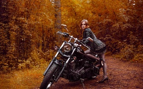 girl, motorcycle, vehicle, model