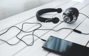 smartphone, technology, headphones, entertainment, music