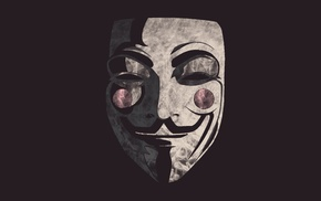 Anonymous, smoke, Guy Fawkes mask