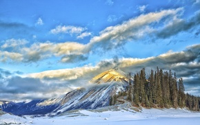 mountains, nature, snow, winter, landscape
