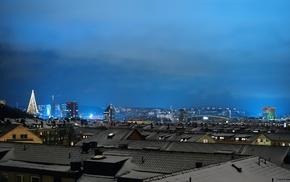 cityscape, building, night, lights, photography, city