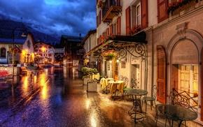 villages, street, night, Germany, Zermatt, photography