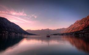sea, water, mountains, nature, photography, sailing ship