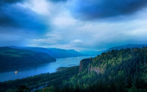 nature, photography, hills, cliff, Columbia River, landscape