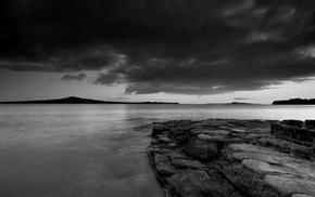nature, water, photography, Rangitoto, landscape, coast