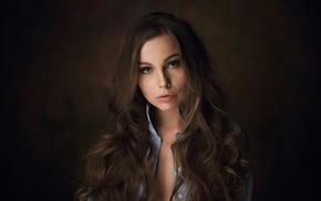 simple background, Maxim Maximov, girl, Natasha Grishchenko, long hair, model