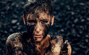 mud, girl, photography, dirt