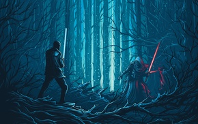 Star Wars The Force Awakens, Dan Mumford, Kylo Ren, Star Wars, movies, concept art