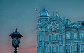 Moon, city, Moscow