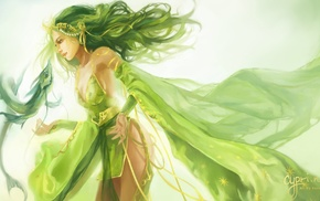 Final Fantasy, green hair, Final Fantasy IV, Rydia