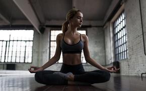yoga, on the floor, model, skinny, Sergey Shumilov, girl