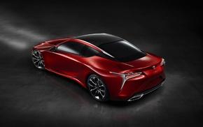 Lexus LC, 500, car, simple background, Lexus