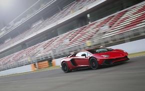 car, race tracks, motion blur, Lamborghini Aventador LP750, 4 SV