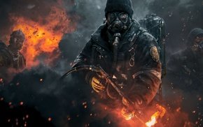 gas masks, artwork, Tom Clancys The Division, video games, thedivision, shooting