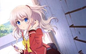 Tomori Nao, anime girls, school uniform, Charlotte anime, anime, Tomonori Nao