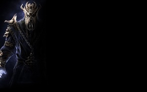 The Elder Scrolls V Skyrim, black, The Elder Scrolls, video games, Miraak