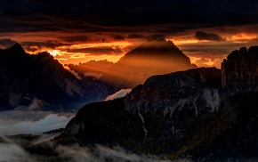 Italy, mist, nature, sky, Alps, clouds