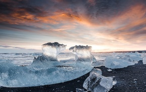 ice, nature, Arctic, clouds