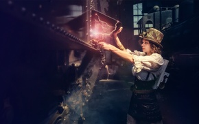 model, steampunk, girl