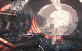 ports, futuristic
