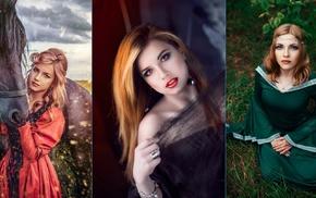 collage, model, girl