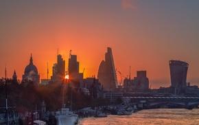 London, urban, Sun