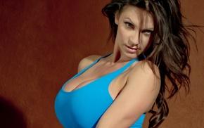 model, Denise Milani, big boobs, face, girl