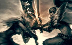 fictional, fantasy art, sword, artwork, Yasuo, Yasuo League of Legends