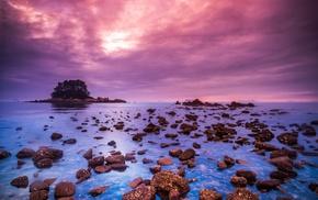 coast, landscape, sea, nature, stones
