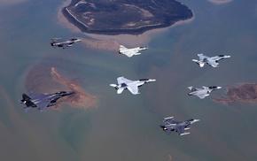 aircraft, aerial view, JAS, 39 Gripen, military aircraft, Dassault Mirage 2000N