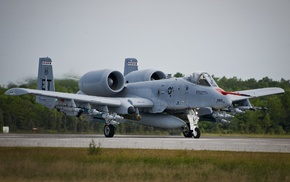 military aircraft, aircraft, runway, Fairchild A, 10 Thunderbolt II