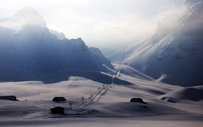 winter, photography, snow, skiing, ski lift, ski lifts