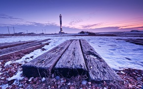 snow, wood, winter, nature, photography, lighthouse