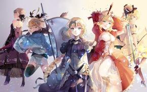 Saber Alter, anime girls, Saber Extra, anime, Sakura Saber, Saber Lily