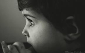 boyhood, looking away, watching, black, people, alone