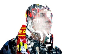 red, paper, yellow, Photoshop, double exposure, graffiti
