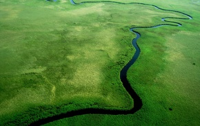 nature, river, aerial view