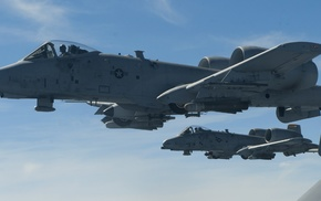 Fairchild A, 10 Thunderbolt II, dual monitors, multiple display, aircraft, military aircraft